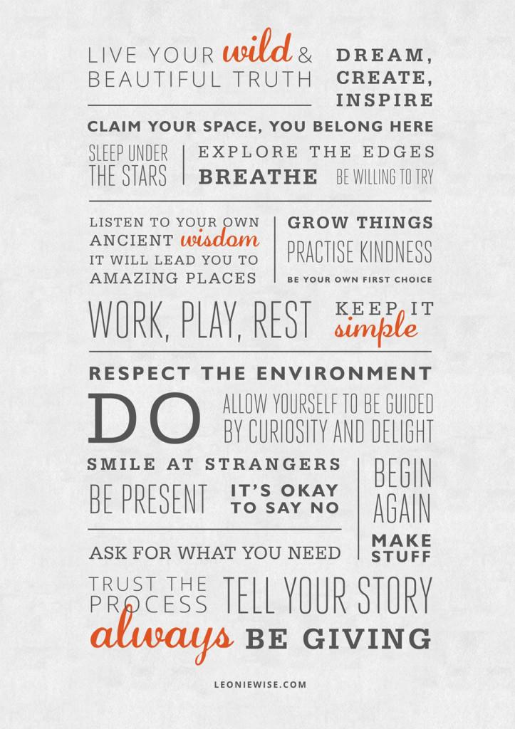 Manifesto by  Leonie Wise