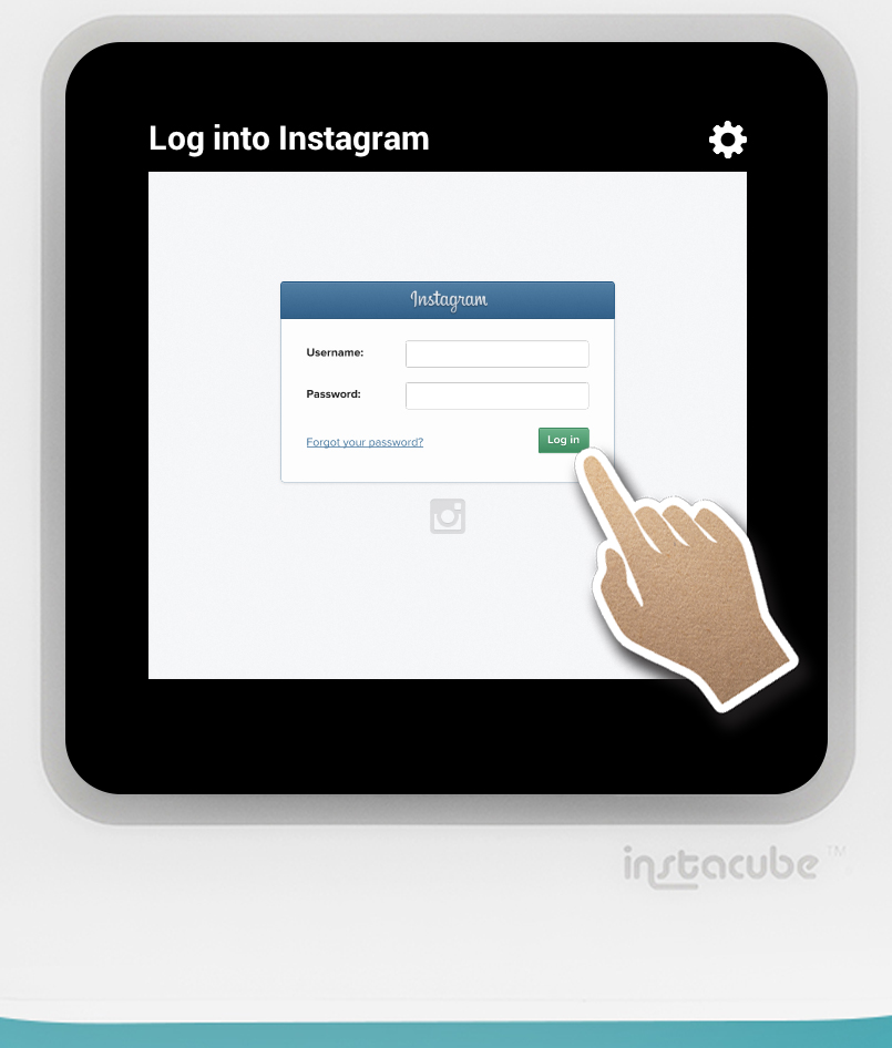 The familiar Instagram login page will now load and you can enter your Instagram user name and password. Then single-tap on 'Login'.