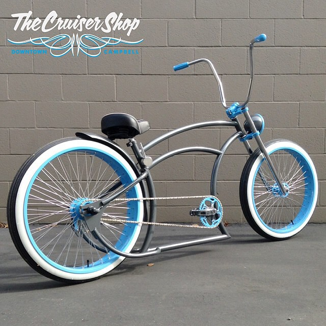 We can't get enough of the custom bikes from @thecruisershop.  #whitewalls #thecruisershop #custombicycle #cube