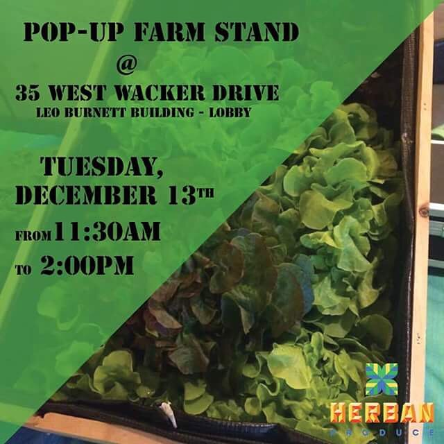 See you tomorrow! #herbanproduce #chicagofarmersmarket #farmersmarket #hydroponics #greenhouse #popupfarmstand