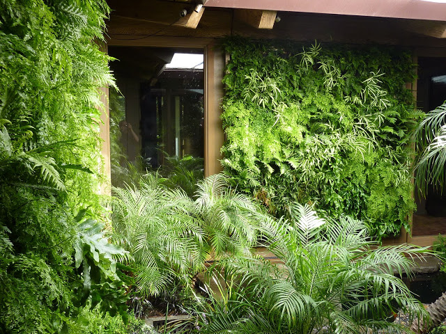 Florafelt vertical garden installation for a Los Altos Residence