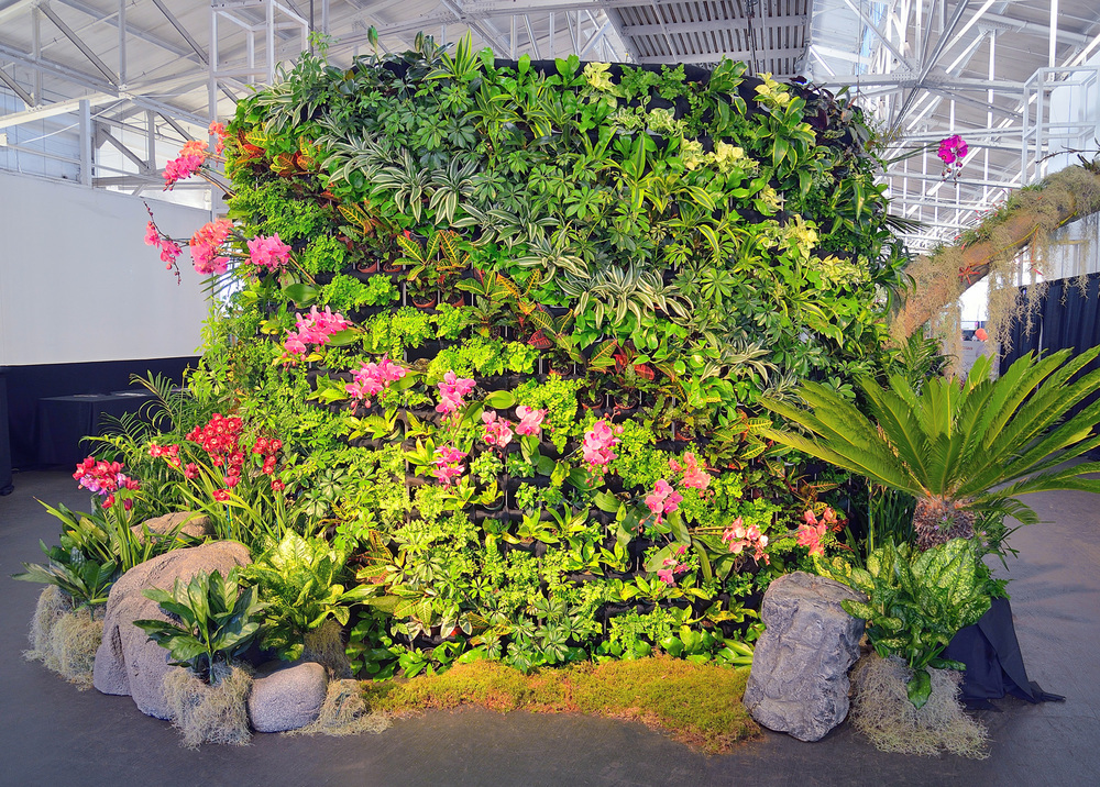 Chris Bribach, Plants On Walls, San Francisco Orchid Expo 2015, Florafelt Pro System