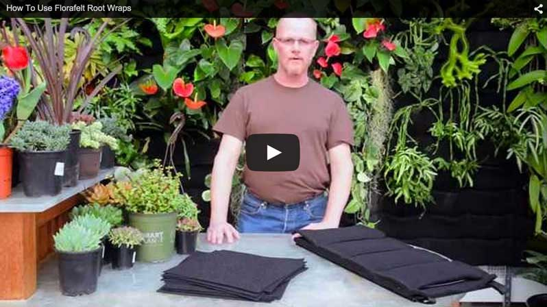Chris Bribach, the inventor of the Florafelt System demonstrates how to use Root Wrappers.