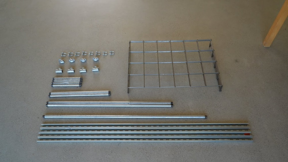 If you've ever built an Ikea bookcase, the idea is the same: all parts are labeled and ready to assemble.