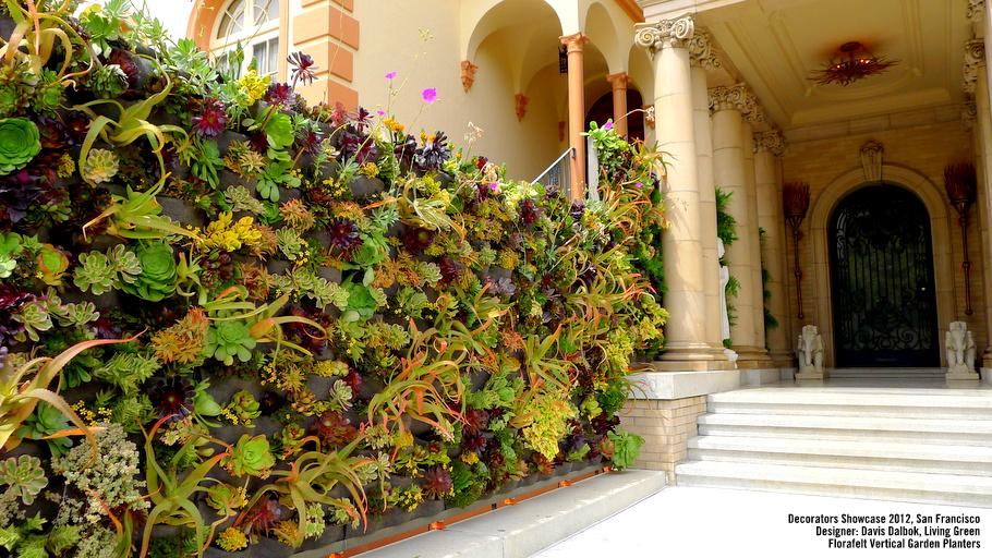 Davis Dalbok, Living Green Design. Decorator Showcase 2012, San Francisco, California. Florafelt Vertical Garden Planters