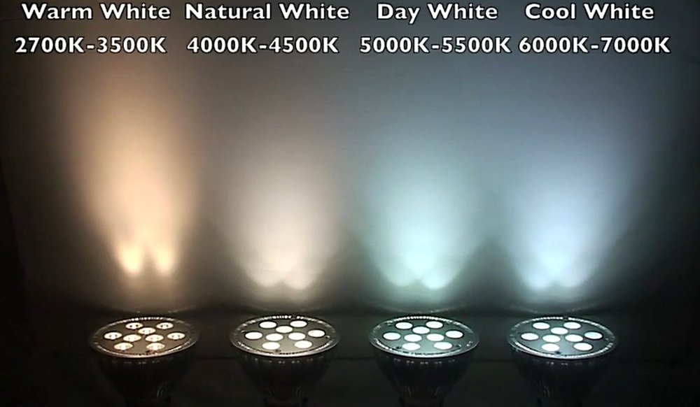Kelvin Light Color Compared