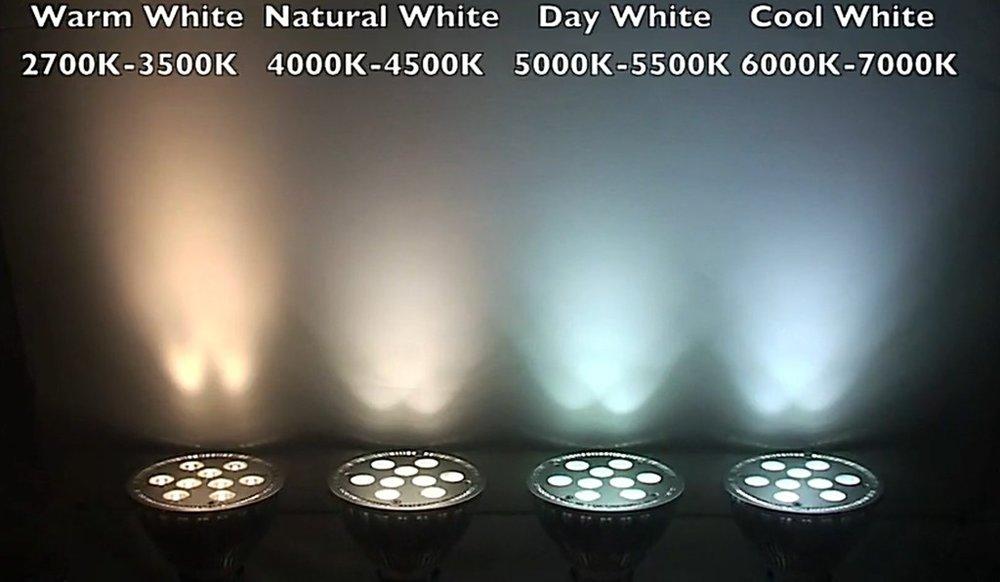 Kelvin Light Color Compared