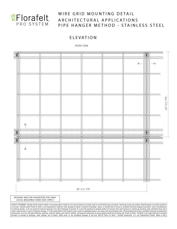 Florafelt Pro System Mounting Details Pipe Hanger Method