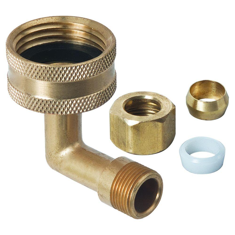 "3/4"" Female Hose Adapter Valve 1/4"" Compression"