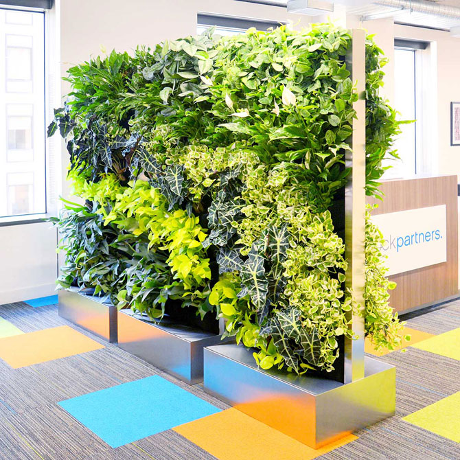 Florafelt Recirc living wall units by Rainforest Plants, Oakland.