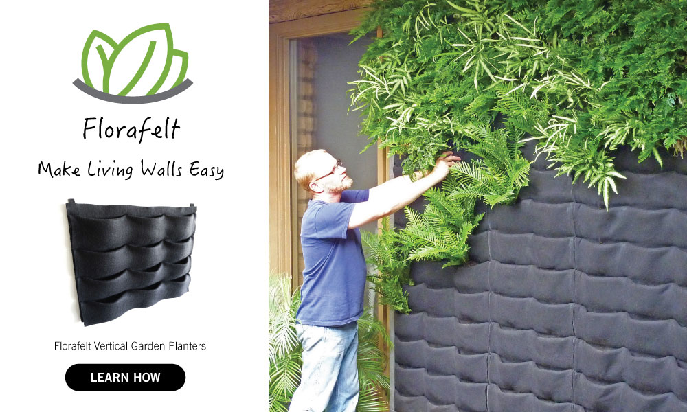 Florafelt Vertical Garden Systems Make Living Walls Easy.