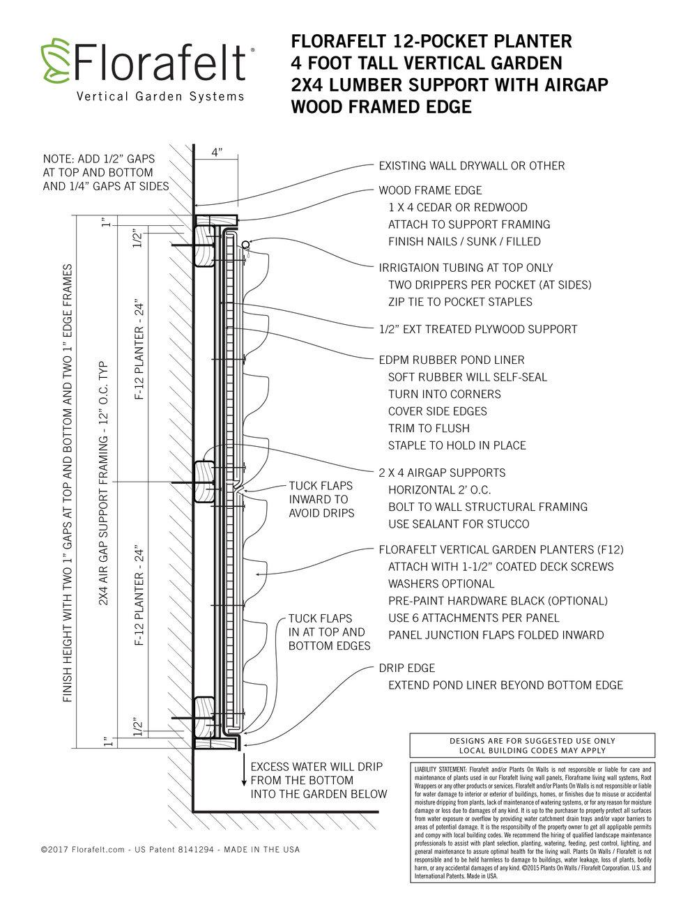 Florafelt-Vertical-Garden-Install-Wood-Framed-Edge