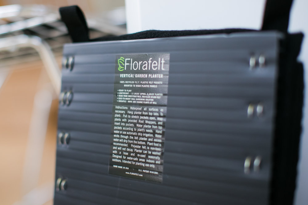 Florafelt 4-Pocket Vertical Garden Planter. Photos by Jamie Sangar.