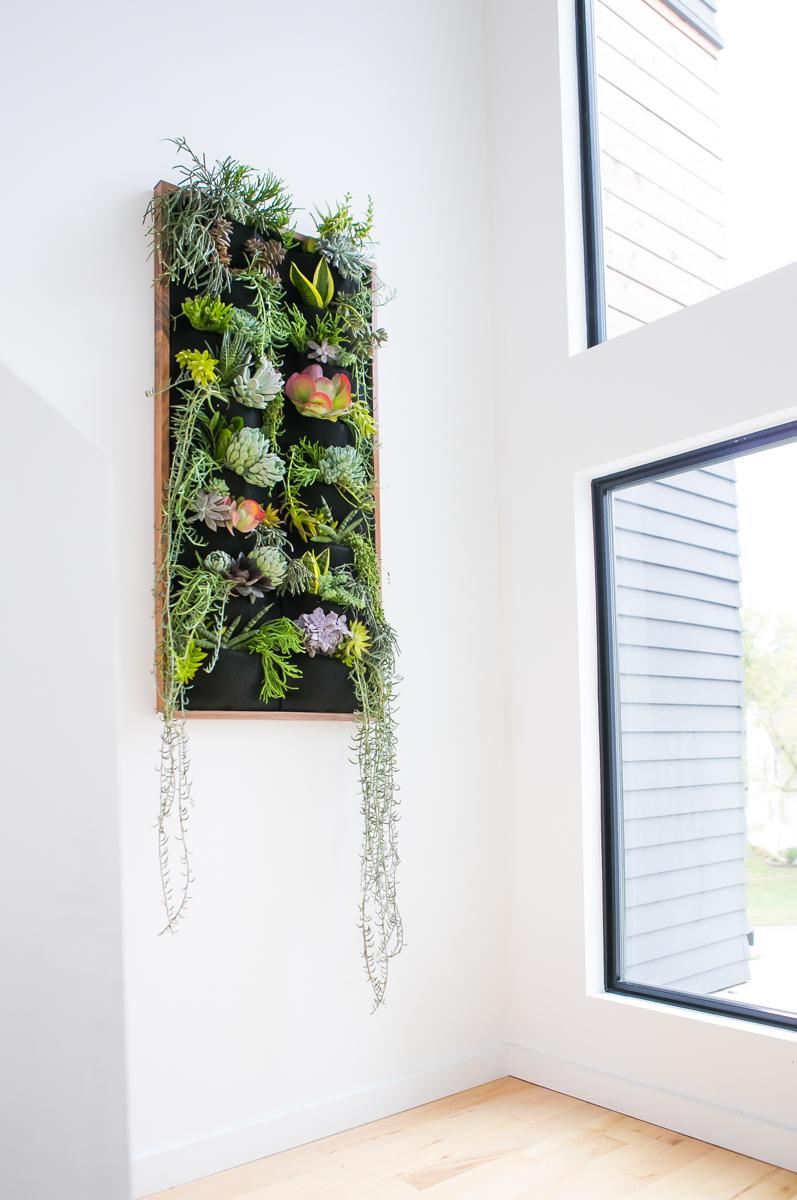Florafelt succulent vertical garden by Jamie Sangar.