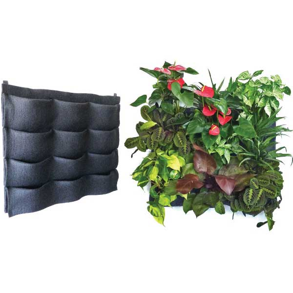 Florafelt Pockets Living Wall Panel 12-Pocket