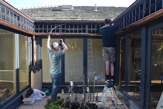 Florafelt Pro System Drip Irrigation Installation by Living Green Design