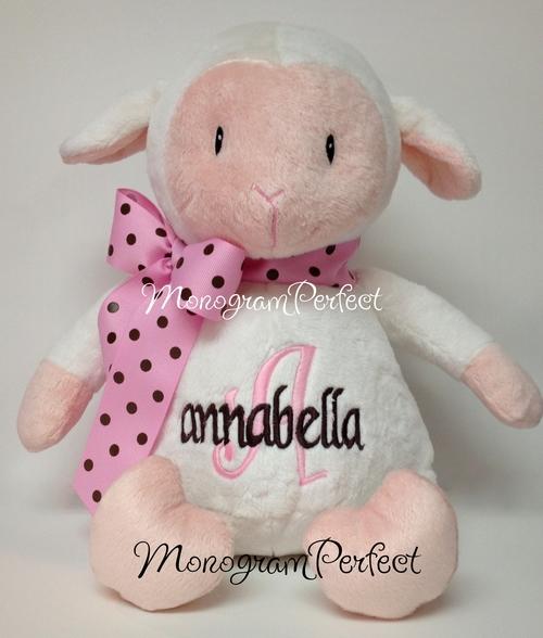 Personalized Lamb Stuffed Animal Monogramperfect