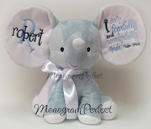 Retiring Design Personalized Blue Navy Elephant
