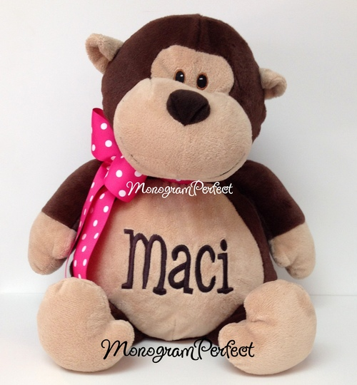 Personalized 16 Monkey Stuffed Animal Monogramperfect