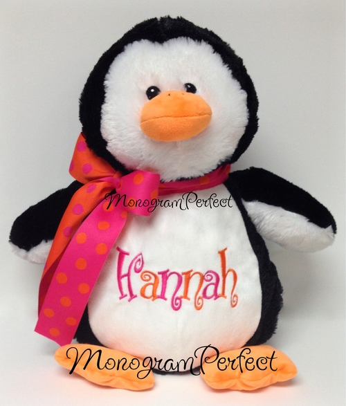 Personalized 16 Penguin Stuffed Animal Monogramperfect