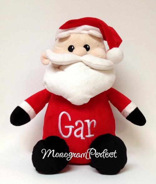 personalized christmas stuffed santa plush toy - Christmas Stuffed Animals