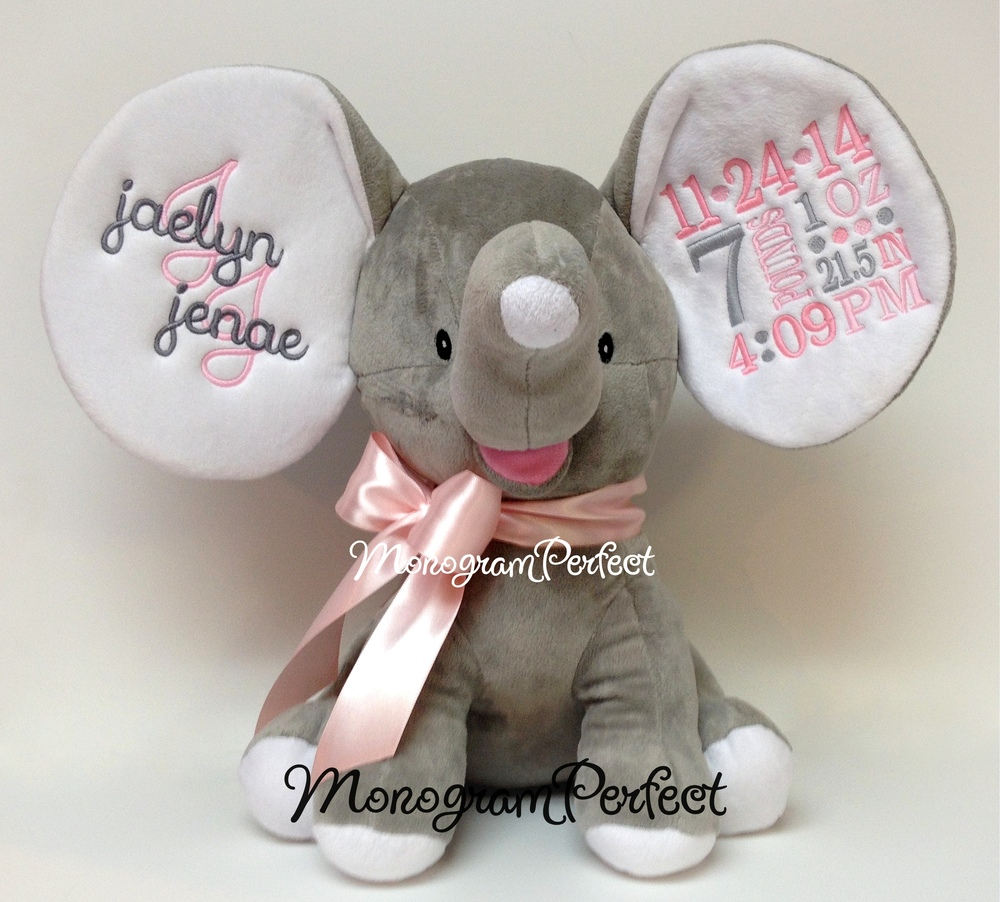 Retiring Design Personalized Gray Light Pink Birth – Personalized Birth Announcement