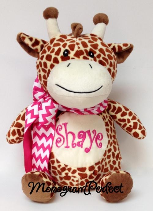 Personalized Giraffe Stuffed Animal Monogramperfect