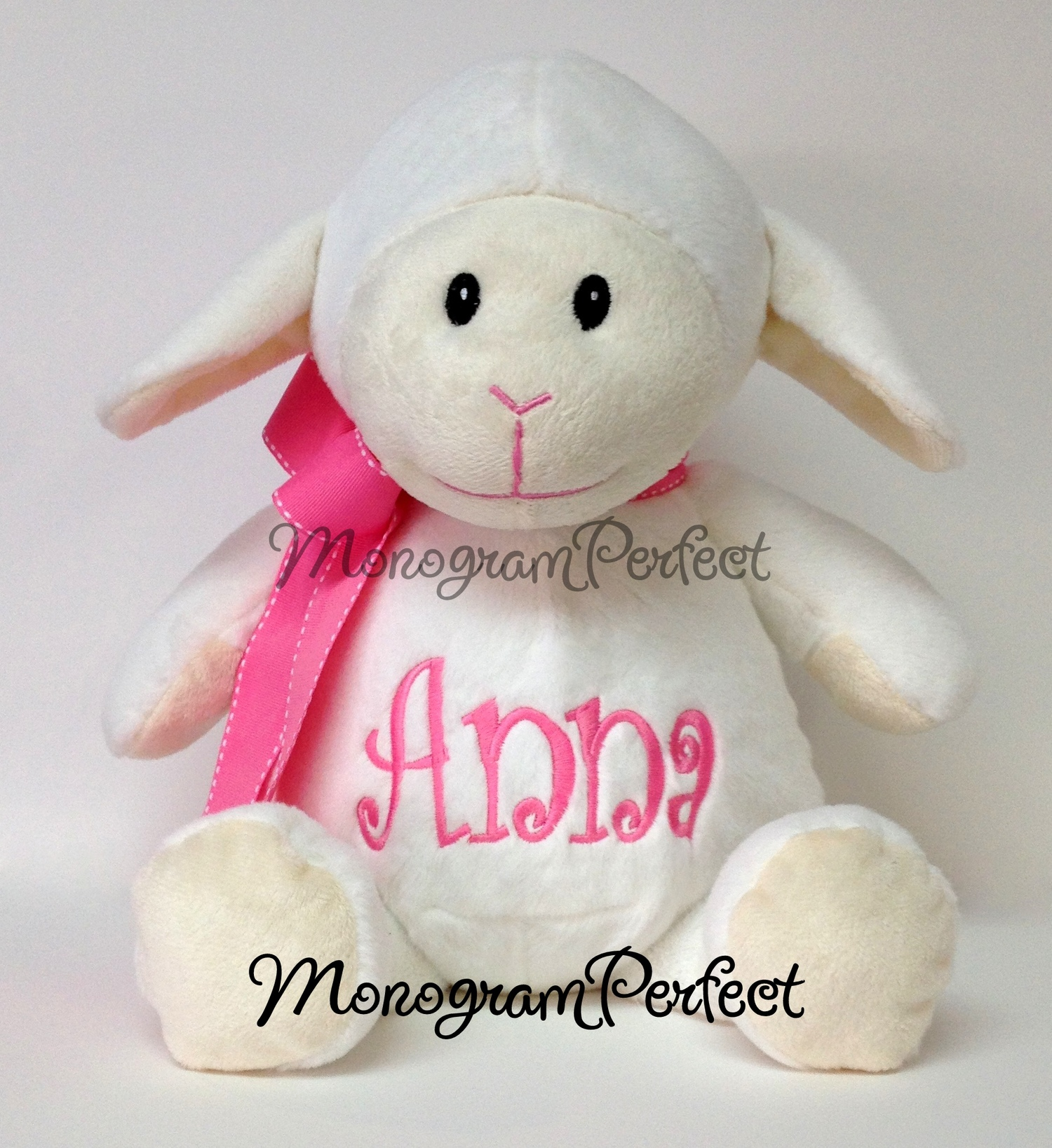 Personalized 16 White Lamb Stuffed Animal Monogramperfect