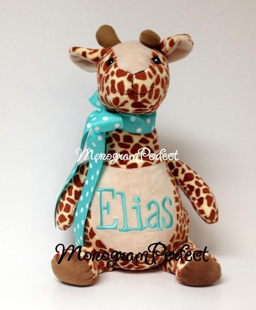 Personalized Long Neck Giraffe Stuffed Animal Monogramperfect
