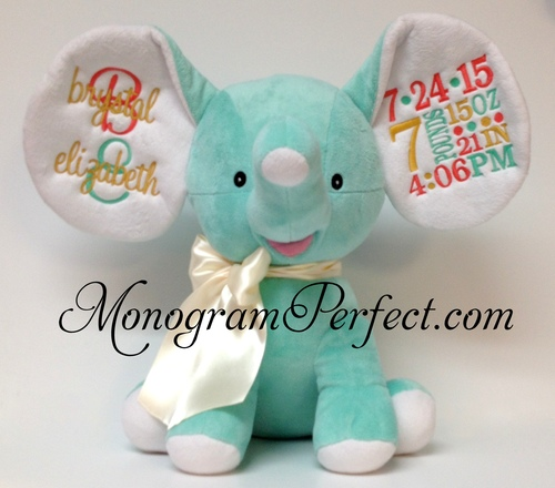 Retiring Design Personalized Birth Announcement Stuffed Mint