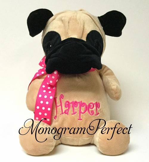 Personalized 16 Pug Dog Stuffed Animal Monogramperfect