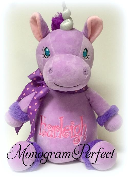 Jumbo Personalized Purple Unicorn Stuffed Animal Monogramperfect