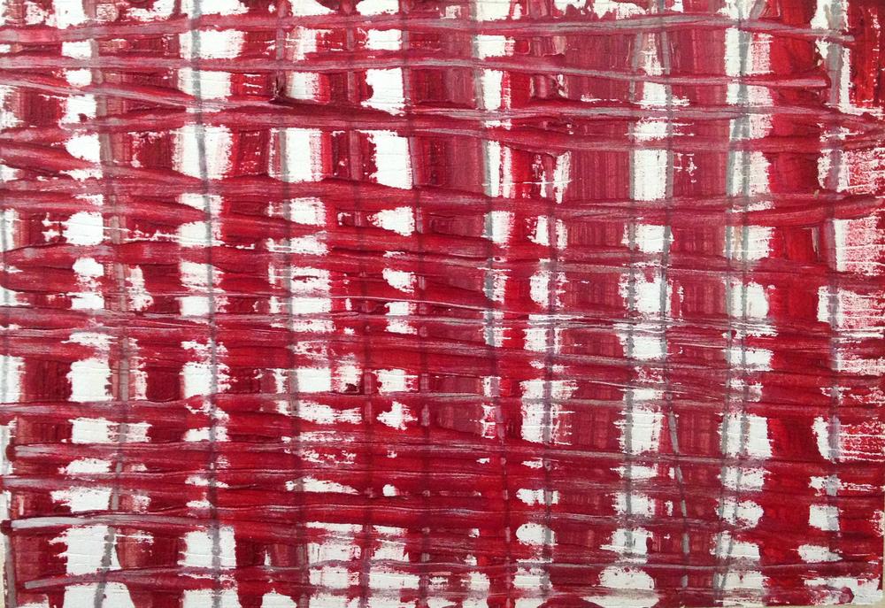 "Poco Rojo, oil on panel, 5"" x 7"""