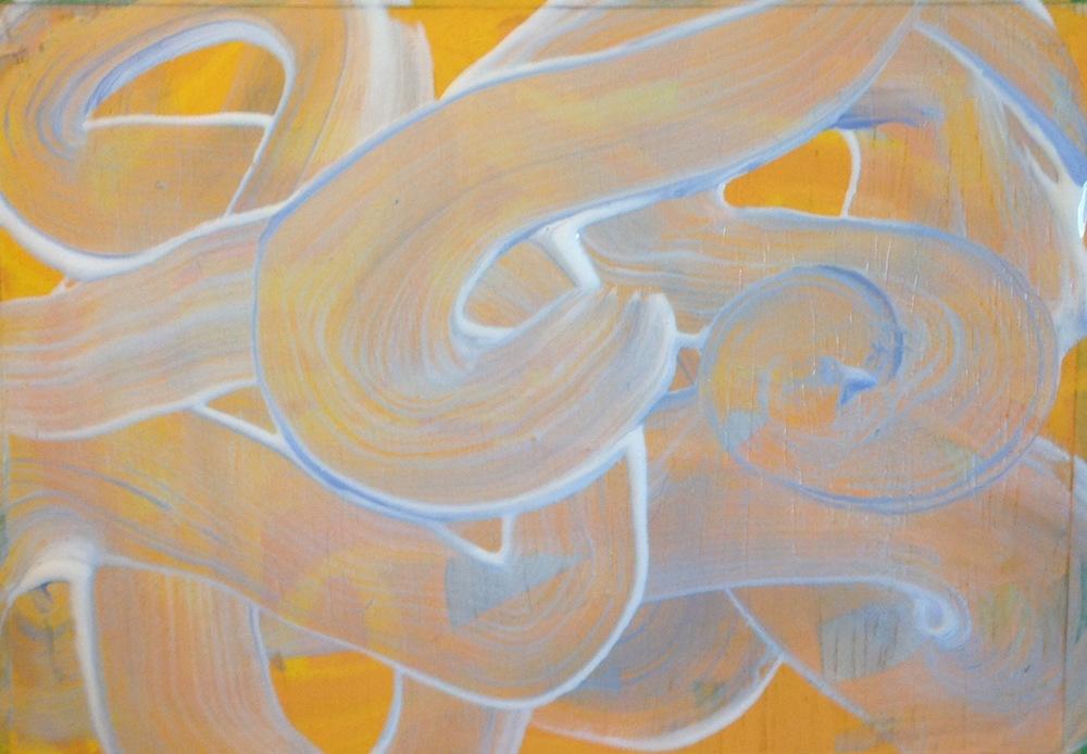 """Marigold, oil on panel, 5"""" x 7"""""""