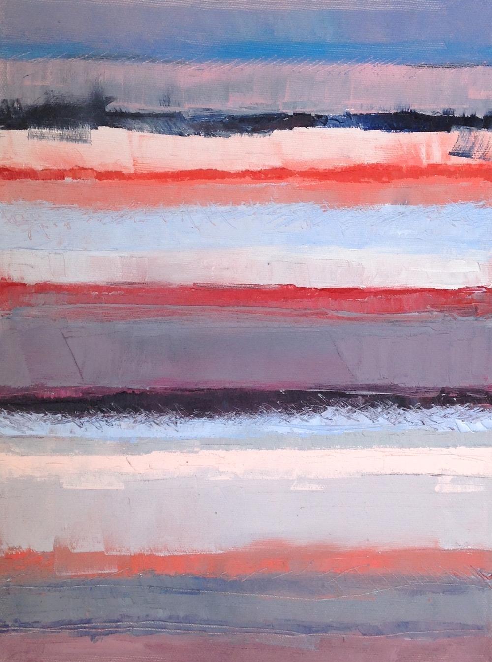 """Beach Day, oil on canvas, 8"""" x 10,"""" $175"""