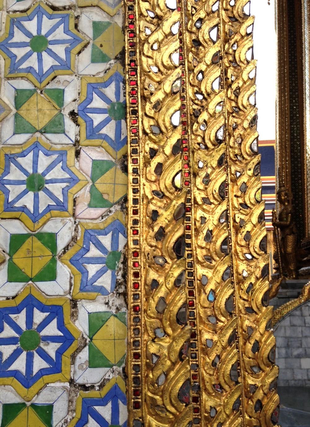 Mosaic detail at the Grand Palace, Bangkok