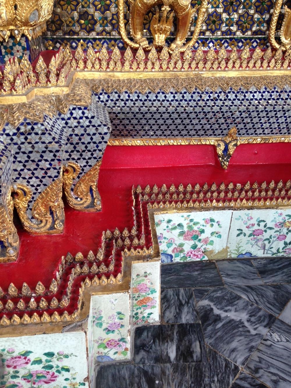 Detail of Edges at Grand Palace, Bangkok, Thailand