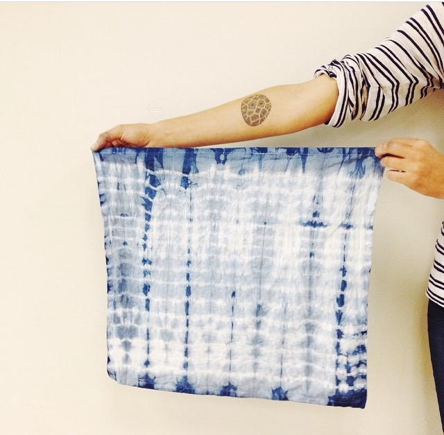 Throwback to the summer of Indigo Dyeing at Limited Editionwith one of my favorite real life artists, Kristen Koehler, I'm offering a drop-in class in a week -August 28th from 2-4 p.m. in my backyard.Bring your own pieces to dye + a plastic bag, $5. Must sign up in advance: katherine.brines@gmail.com