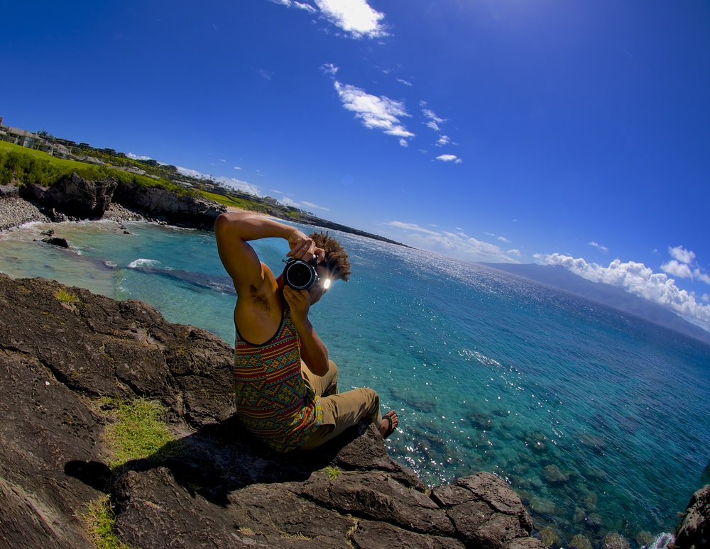Out shooting in Ka'anapali, Maui