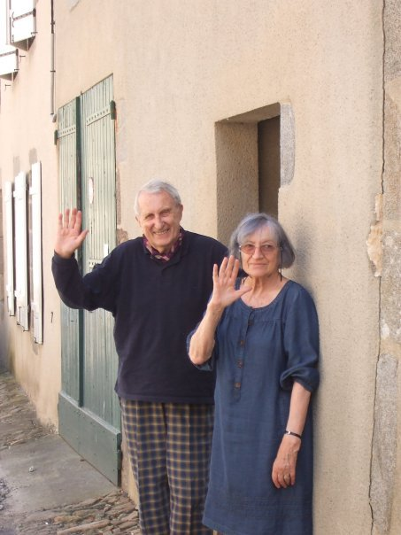 My grand parents in front of their house in rural France
