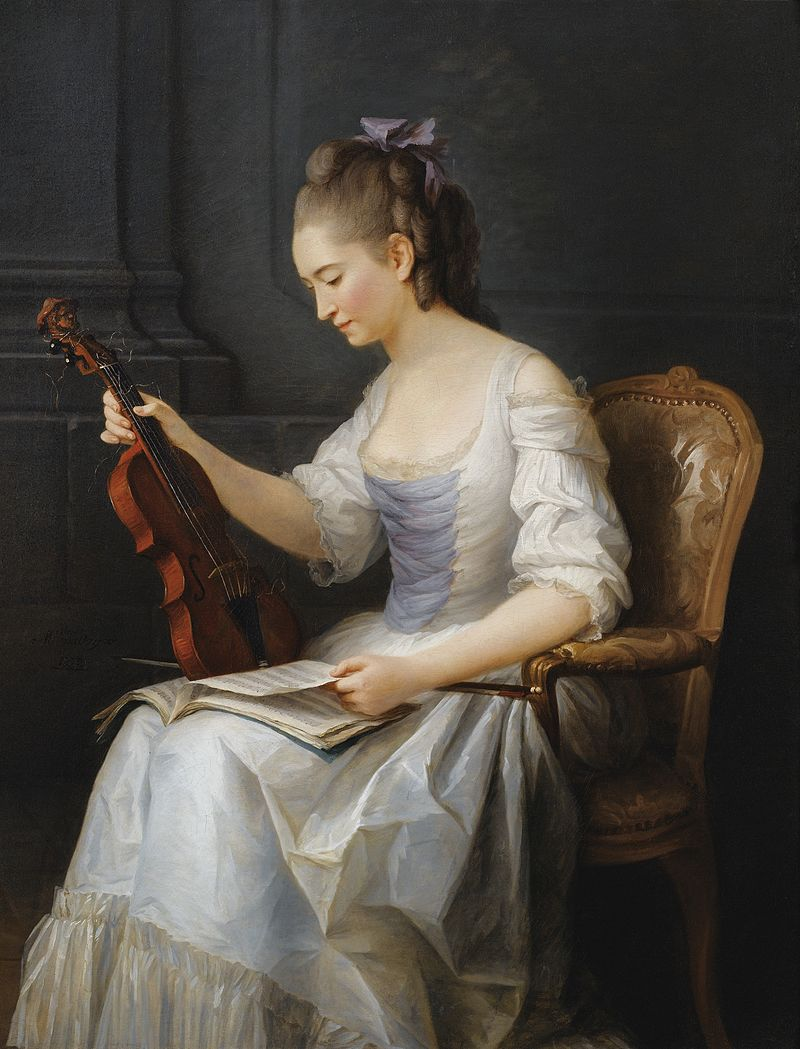 Anne Vallayer-Coster,  Portrait of a Violinist