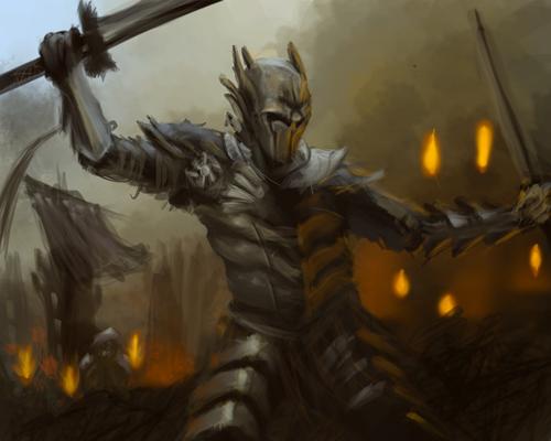 """Warrior"" by  Bluna  via  Deviant Art  under a  Creative Commons Attribution 3.0 License"