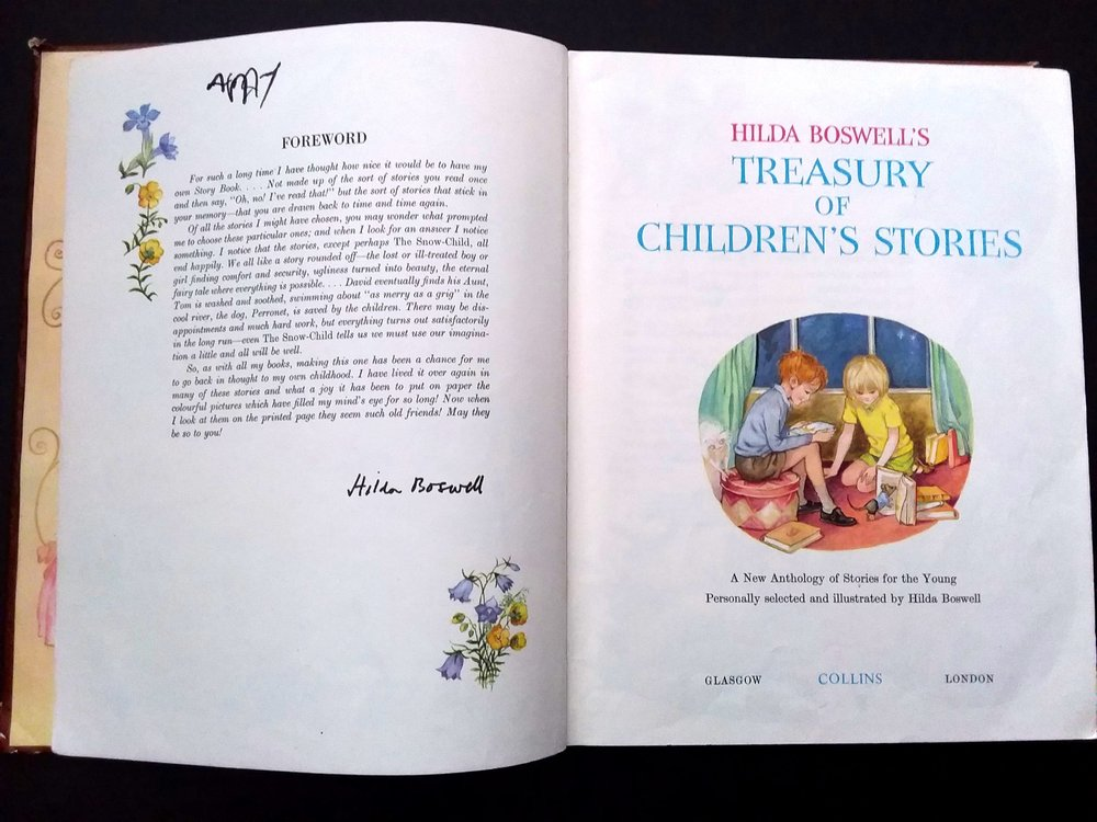 Title page of  Hilda Boswell's Treasury of Children's Stories  (Click image to enlarge)