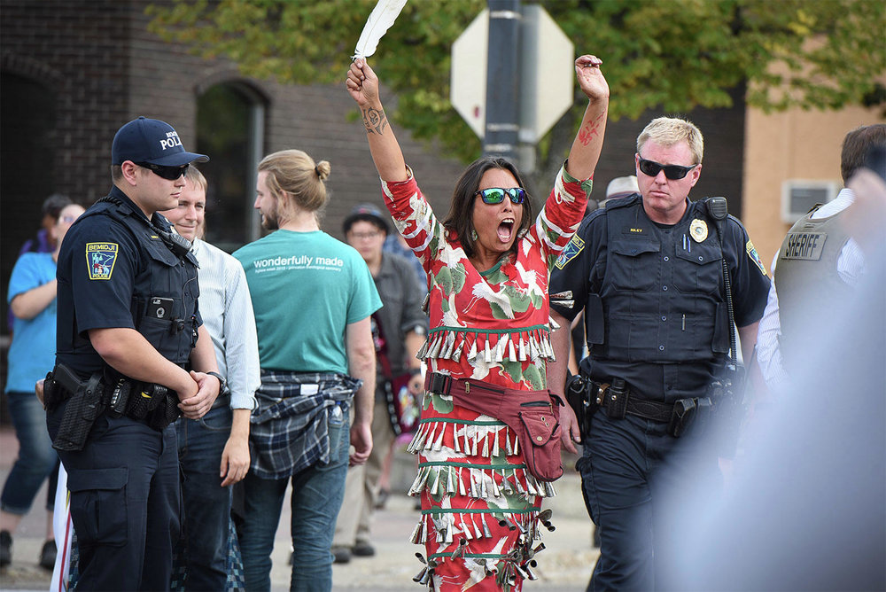 More than two dozen people were cited during a protest against Enbridge's Line 3 in downtown Bemidji.