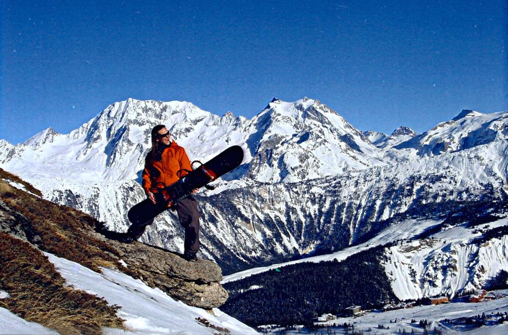Danny Martin, galactic freerider, enjoying snowboarding in Courchevel, France