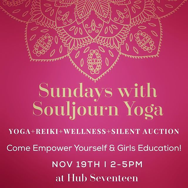 """Where there is charity and wisdom, there is neither fear nor ignorance."" JOIN @souljournyoga at Hub Seventeen this Sunday for yoga, charity and freebies💕Message to learn more! #karma #weekendwarrior #yogasunday #nycyoga #yogacharity #yogaforacause #yogaretreat #staycation #giveback #feedyoursoul"