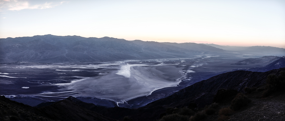 Sunset over the Panamint Range in Death Valley National Park.