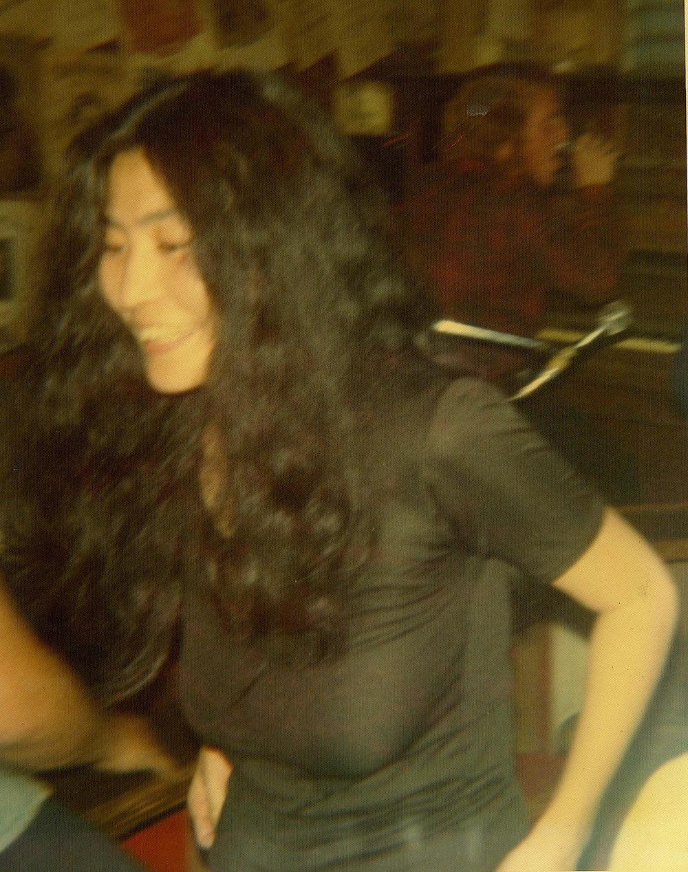 "Yoko enjoying the music. --John was her biggest fan--said she was the ""greatest unknown artist."""