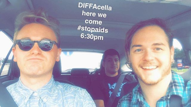 on our way to @diffadallastx Burger's and Burgundy 🍔🍷🔥 // 6:30p // see you soon #stopaids #letsrock #rtr #dallas