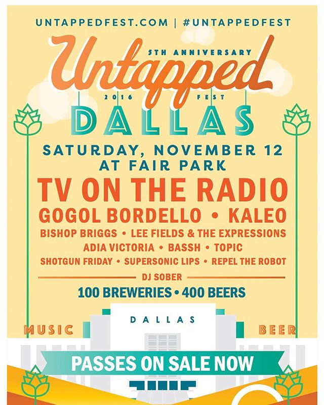 SO PUMPED to be chosen to play @untappedfest #dallas with @tvontheradio @gogolbordello_official @officialkaleo @thatgirlbishop @supersoniclips @shotgunfriday and more // HUGE THANKS to our rtr fans and all the continued support 🎉✊🏼🎊let's get heated 🔥🔥🔥Nov 12 #rtr #live #party #beer